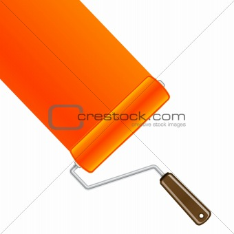 Orange paint roller background