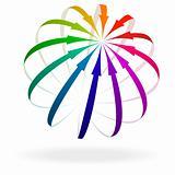 Colorful Arrow Icon