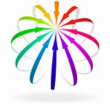 Colorful Arrow Icon