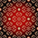 Seamless red-black-yellow vintage pattern