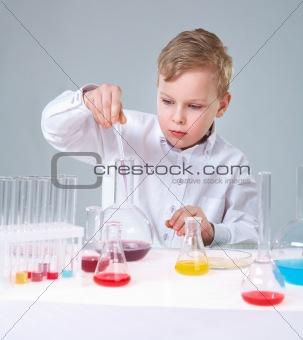 Busy chemist