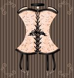lady&#39;s beige corset