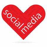 heart symbol as social media concept 