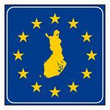 Europeann button isolated on white background