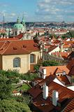 St. Nicholas Church and the red roofs in Prague