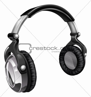 Big cool music headphones
