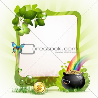 Mirror frame for St. Patrick's Day