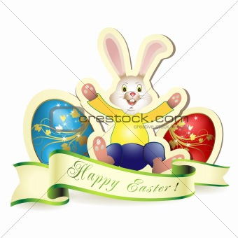 Bunny with eggs