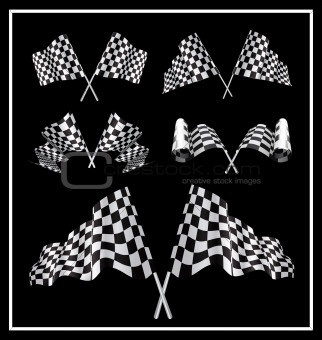 Checkered Starting Flags