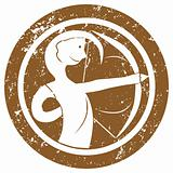 Zodiac sign Sagittarius stamp
