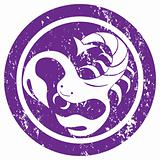 Zodiac sign Scorpio stamp