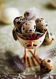 Quail's Eggs in a Easter Eggcup