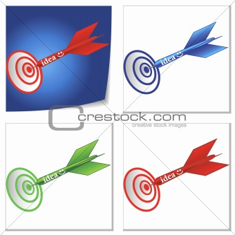 a set of idea on target illustrations