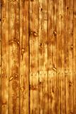 Wood background with yellow light