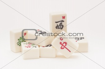 Studio shot of Mahjong pieces