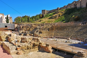 Roman Theater in Malaga, Spain