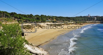 Platja Llarga beach, in Salou, Spain