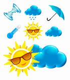 Sun Glasses weather icons