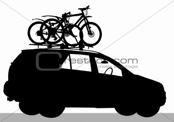 Car with Bicycles