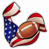 American football emblem