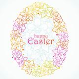 greeting card of Easter egg