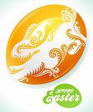 Easter egg and white rabbit