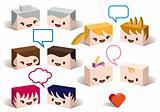 3D family avatars, vector