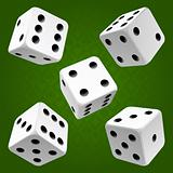 dice set. Vector icon