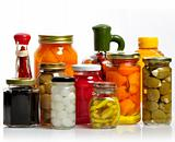 Glass Jars Of Preserved Food