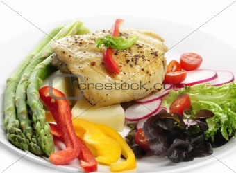 Chicken Breast With Potatoes And Vegetables