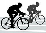 Silhouette cyclist