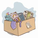 Box of office belongings
