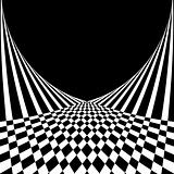 Optical illusion. Abstract background in op art style.