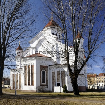 Ancient church at a Vilnius