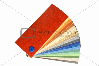 Collection multicolored linoleum