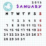 january 2013