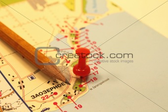 The mark on the tourist map