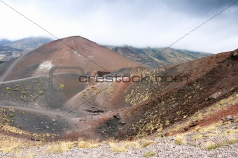 View of the volcanic landscape