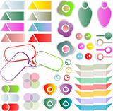 scrapbook vector elements with a lot of tags and stickers