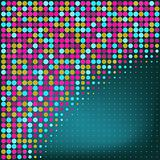Abstract Blue Dots Vector Background