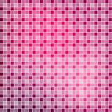 Abstract tile red and pink seamless background. Square pixel mos