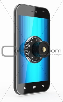 Phone with combination Lock