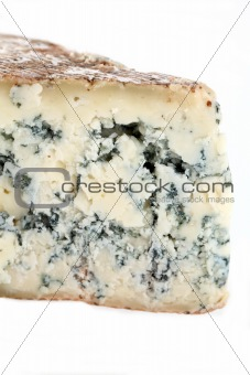 Slice of french musty cheese