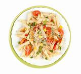 Pasta penne with vegetables
