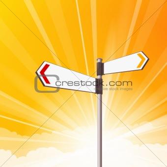 Blank Destination Signs