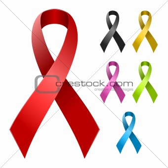Ribbon in various colors