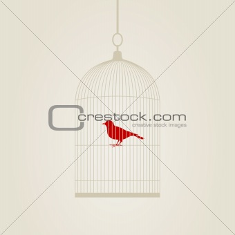 Birdie in a cage