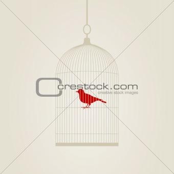 Birdie in a cage