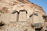 Granaries in a Dogon village, Mali (Africa).