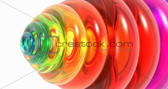 3d background with glass rings